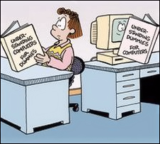 computer learning center customer shared computer comic