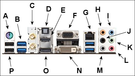 Computer Setup Guide motherboard backpanel